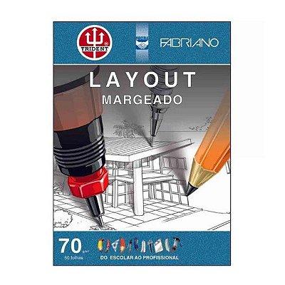 Bloco Layout Margeado  TRIDENT   A3+ 70g 50 Folhas