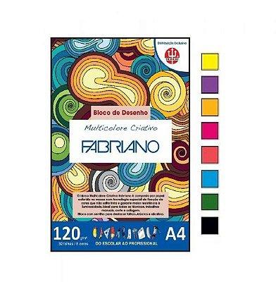 Bloco TRIDENT  Multicolore Criativo A4 - 120g 8 Cores - 32 Folhas