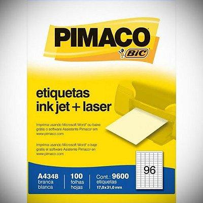ETIQUETA PIMACO A4348 C 96 POR FOLHA CX C 100FLS BRANCA