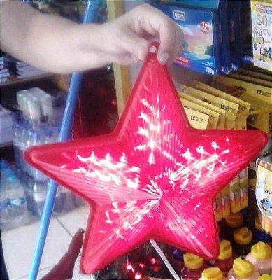 Estrela Led multisequencial 30cm Bivolt verm