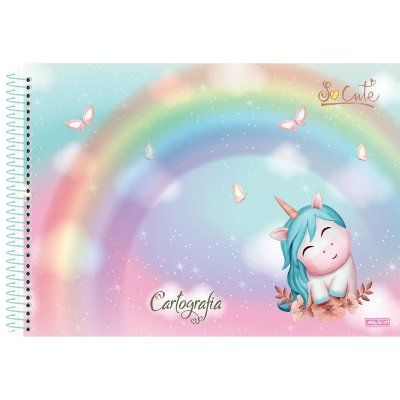 CAD CARTOGRAFIA 1/1 CD ESPIRAL 60 FLS SO CUTE PIS UNICORNIO