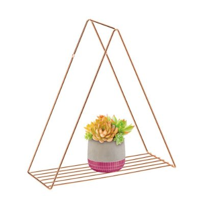 Prateleira Triangular Rose Gold