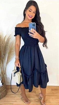 Vestido Midi Lastex