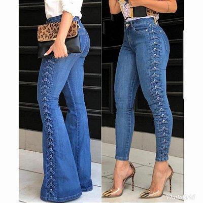 Calça Jeans Flare Bebela