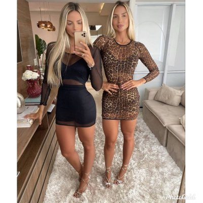 Vestido Tule C/ Cropped e Short