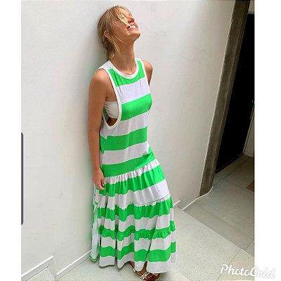 Vestido Longo Bicolor com Top