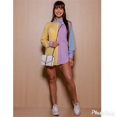 Maxi Camisa Tricolor