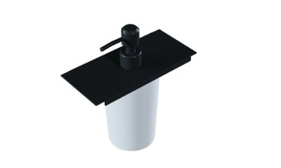Dispenser de detergente 75 mm BLACK