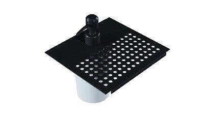 Dispenser de esponja simples 150 mm BLACK