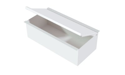 Container com tampa WHITE
