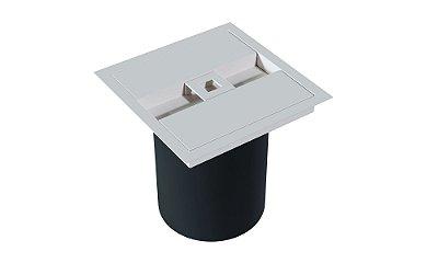 Lixeira Quadrada de embutir com puxador quadrado WHITE
