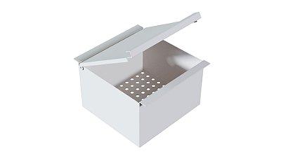 Porta esponja com tampa 150 mm prof. 100 mm WHITE