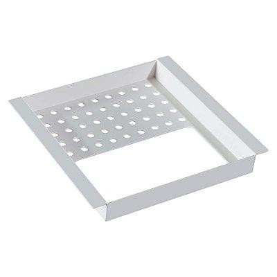 Porta esponja e detergente simples 150 mm WHITE