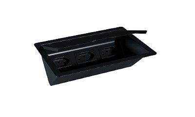 Porta Tomadas de Embutir 200 mm BLACK