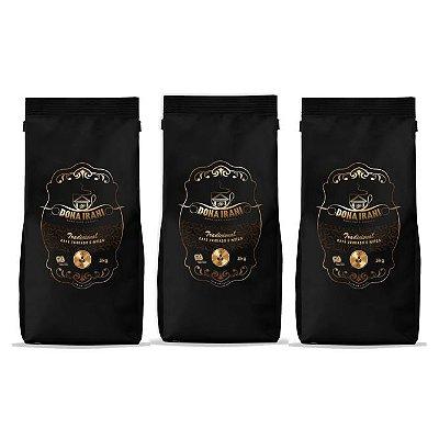 Promoção 9 kgs - Café Dona Irani Tradicional torrado e moído 3000g