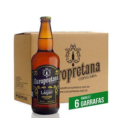 Caixa c/ 6 unidades - Ouropretana Golden Lager 500ml