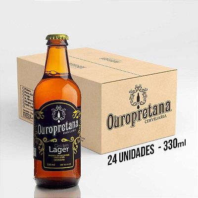 Caixa c/ 24 unidades - Ouropretana Golden Lager 330ml