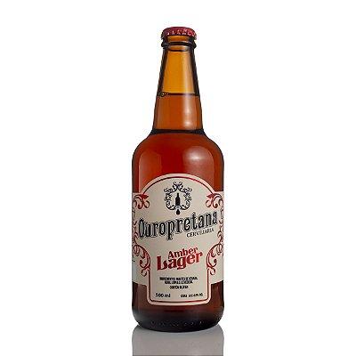 Cerveja Ouropretana Amber Lager 500ml