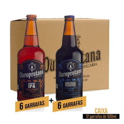 Caixa mix c/ 12 unidades - Ginger + Amburana Ouropretana 500ml