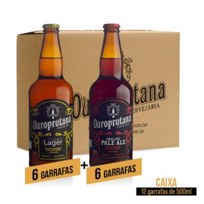 Caixa mix c/ 12 unidades - Golden + Pale Ale Ouropretana 500ml