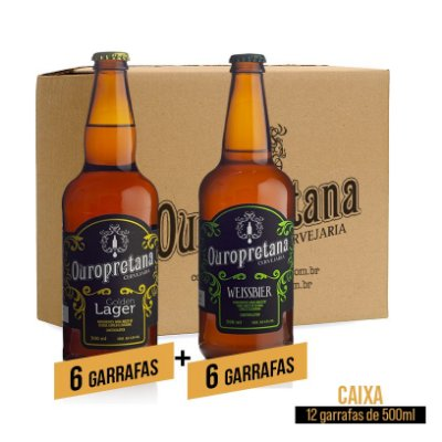 Caixa mix c/ 12 unidades - Golden + Weissbier Ouropretana 500ml