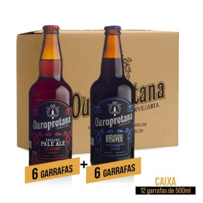 Caixa mix c/ 12 unidades - Pale Ale + Amburana Ouropretana 500ml
