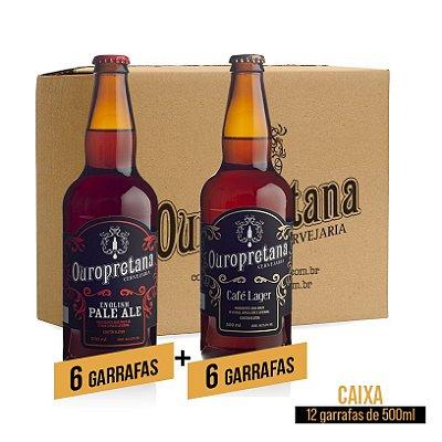 Caixa mix c/ 12 unidades - Pale Ale + Café Lager Ouropretana 500ml