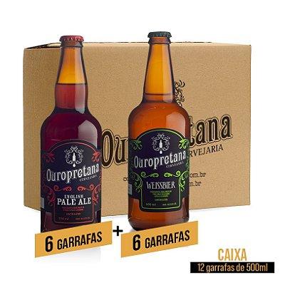 Caixa mix c/ 12 unidades - Pale Ale + Weissbier Ouropretana 500ml
