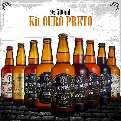 Kit Ouro Preto 9x 500ml - Caixa c/ 9 unidades
