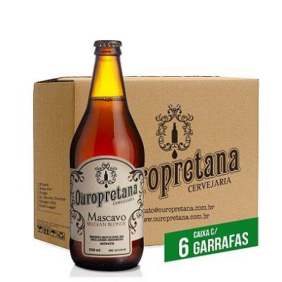 Caixa c/ 6 unidades - Cerveja Ouropretana Mascavo Belgian Blonde 500ml