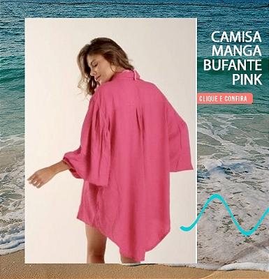 Camisa Manga Bufante Pink