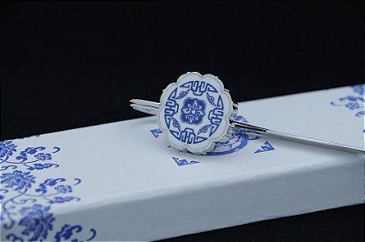 Marcador de livro - Flor Azul de Porcelana - Qīng Huācí (青花瓷)