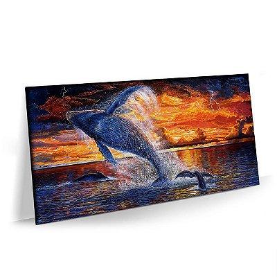 Quadro Natureza Oceano Baleia Tela Decorativa