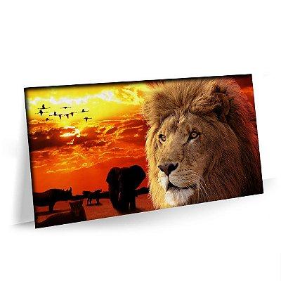 Quadro Leão Selva Savana Animais Tela Decorativa