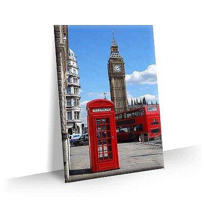 Quadro Cabine Telefonica Londres Tela Decorativa