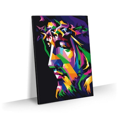 Quadro Jesus Cristo 3D Tela Decorativa