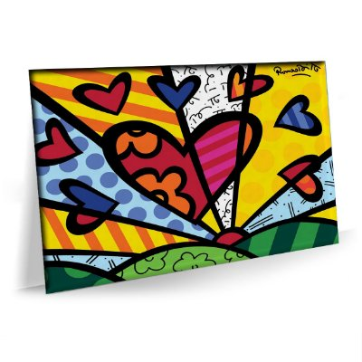 Quadro a New Day Romero Britto Tela Premium