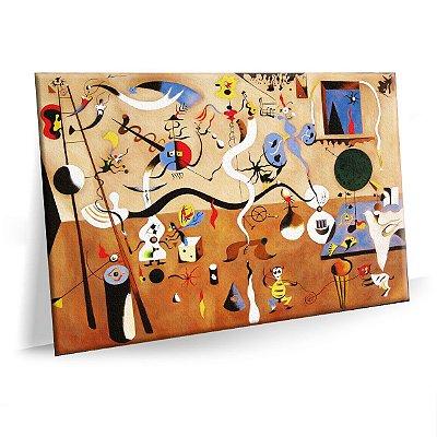 Quadro O Carnaval de Arlequim Joan Miro Tela Decorativa