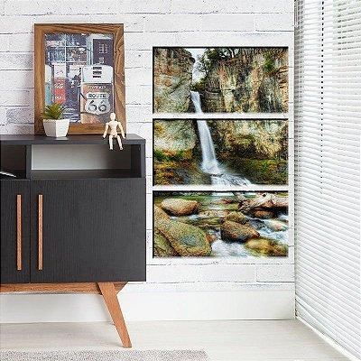 Quadro Cachoeira Natureza 3 tela decorativa