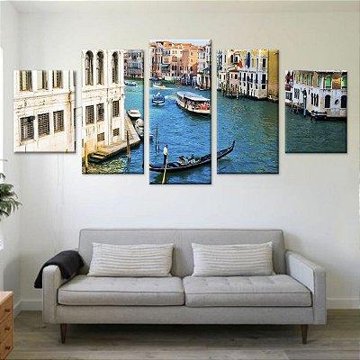 Quadro Veneza Conjunto 5 Telas Decorativas