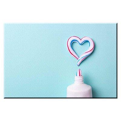 Quadro Consultorio Odontologico Creme Dental Tela Decorativa