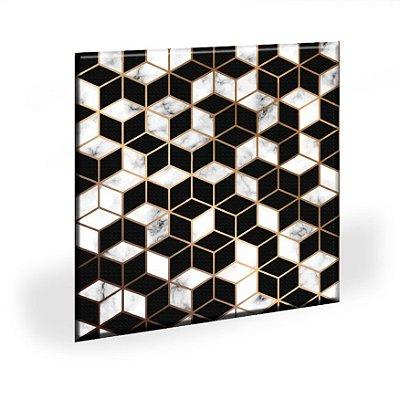 Quadro Geometrico Golden Geometrico Tela Decorativa