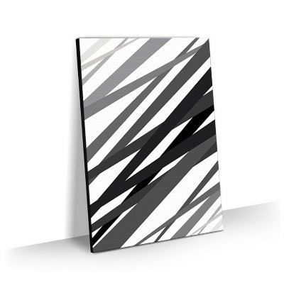 Quadro Abstrato Black Lines Tela Decorativa