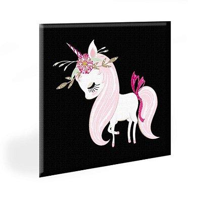 Quadro Infantil Unicornia Tela Decorativa