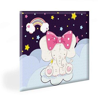 Quadro Infantil Elefantinha Arcoires Tela Decorativa