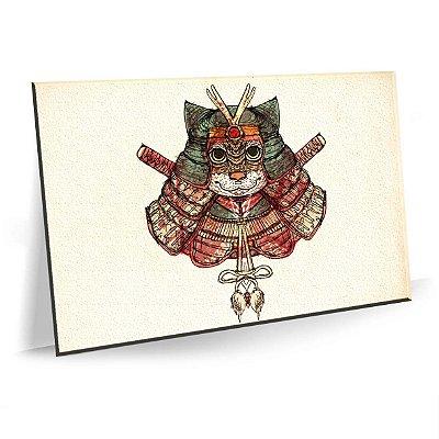 Quadro Sala Samurai Decorativo Tela em Tecido