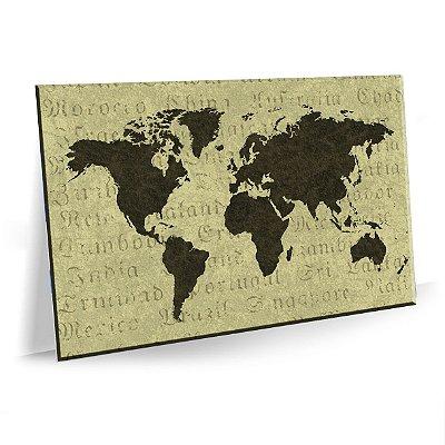 Quadro Mapa Mundi Escritorio Tela Decorativa