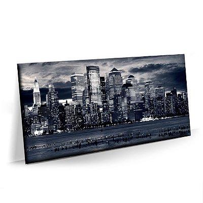 Quadro Nova York Preto e Branco Tela em Tecido