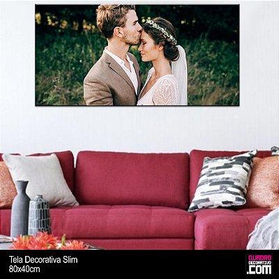 Quadro Personalizado SLIM com sua Foto em Tecido Canvas