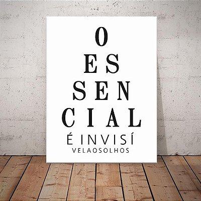 Placa Decorativa O Essencial (AL) 30X40CM